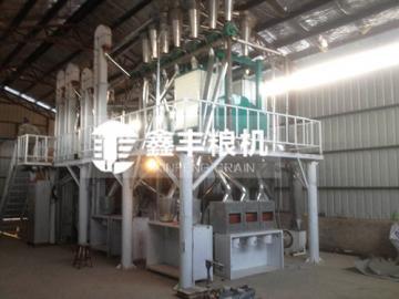黑龙江伊春10吨玉米加工设备安装案例