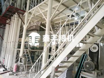 新乡200吨玉米加工设备安装案例