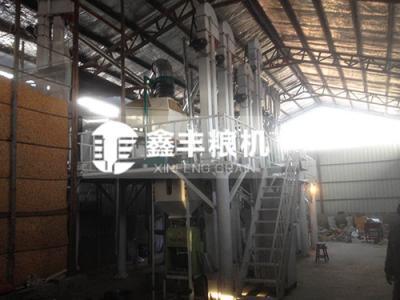 黑龙江15吨玉米加工设备安装案例