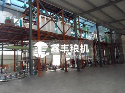 河南郑州200吨玉米加工设备安装案例