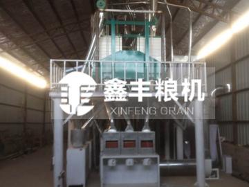 河北秦皇岛小型玉米加工设备安装案例
