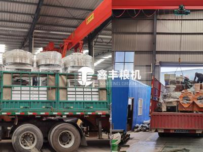 内蒙呼伦贝尔石磨面粉机组 榨油机发货