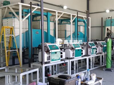 塞布鲁斯30吨面粉机械安装中